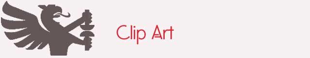 Schriftzug Clip Art und Druckerwappen