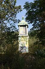 Der Magdalenenbildstock an der Ostseite des Pfarrgeländes Grotewiese
