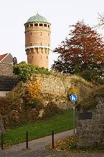 Der Rüthener Wasserturm vom früheren Schneringer Tor aus betrachtet