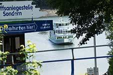 Der Seebahnhof in Sondern am Biggesee