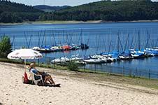 Das Strandbad an der Waldenburger Bucht in Attendorn