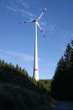 Windrad auf dem Hilchenbacher Windwanderweg