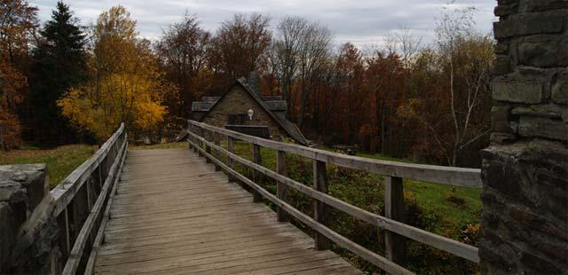 Aussicht von der Brücke der Ginsburg
