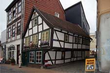 Fachwerkhaus aus dem Jahr 1698 in der Altstadt von Schwerin