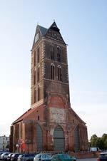 Der Turm der ehemaligen Marienkirche in Wismar