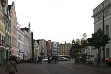 Blick auf den Marktplatz der alten Hansestadt Wismar