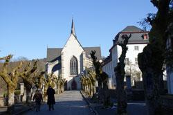 Blick auf die Abteikirche Marienstatt