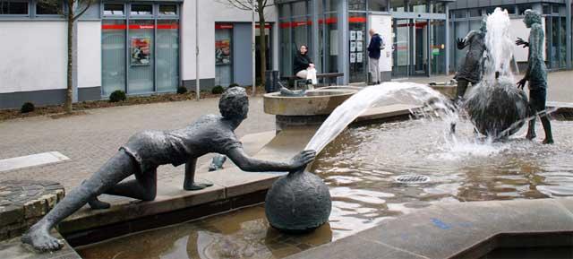Eslohe, Wasserspiele im Ortszentrum