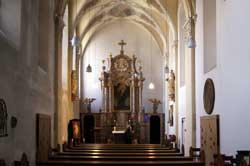 Innenraum der Klosterkirche Marienthal