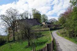 Burganlage in Stadt Blankenberg