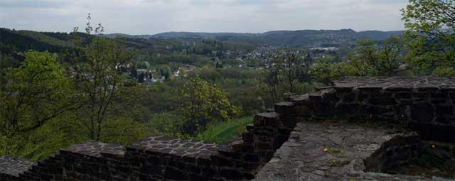 Blick von Burg Windeck in das Siegtal