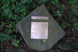 Info-Stein am Wanderrastplatz an der Brüderstraße