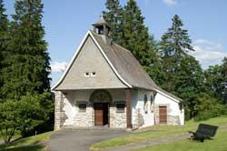 Die Hubertus-Kapelle in Jagdhaus