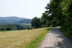 Blick zurück auf dem A2 Richtung Kindelsberg