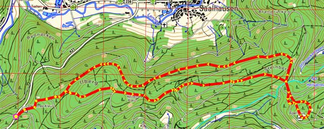 Wanderroute Steinernes Kreuz - Alpenhaus und zurück