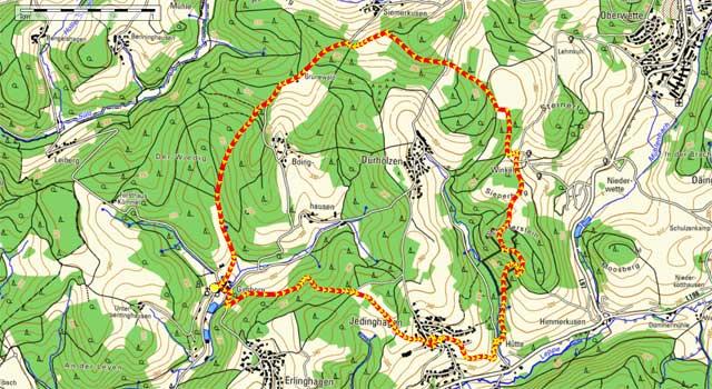 Route Rundwanderung Gimborn