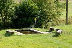 Wassertretbecken im Insbachtal