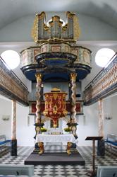 Inneres der Evangelischen Kirche Hülsenbusch