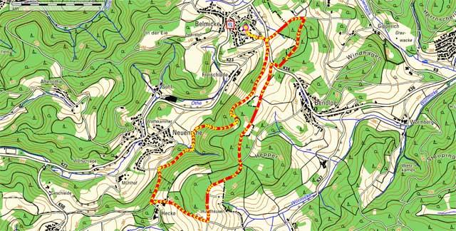 Rundwanderweg Belmicke - Hecke