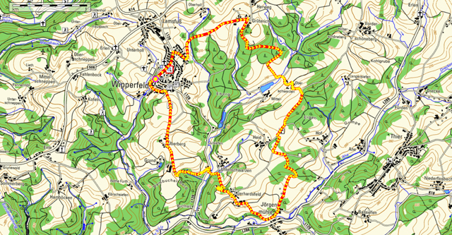 Route Rundwanderung Wipperfeld