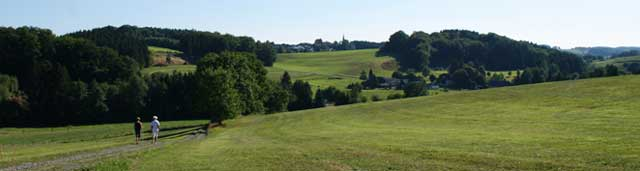 Blick vom Panoramaweg auf Thier