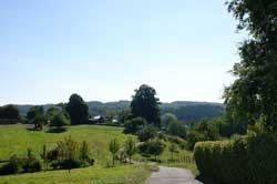 Blick vom Kapellenberg in Thier zum Burgberg