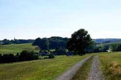 Der Panoramaweg oberhalb von Drecke
