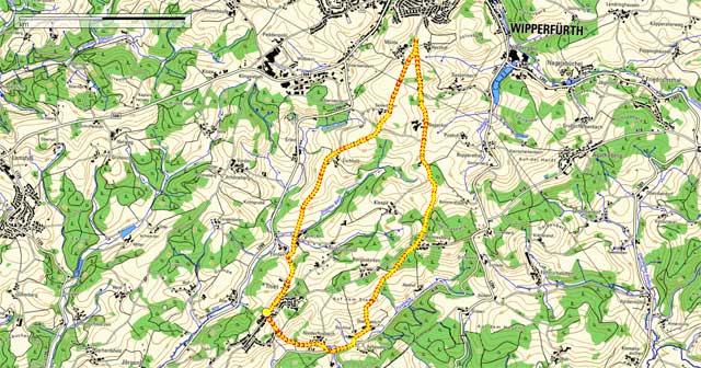 Route Rundwanderung Thier