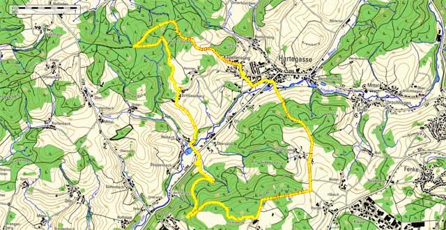 Route von Kapellensüng zum Brungerst