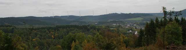 Blick auf den Hilchenbacher Höhenring