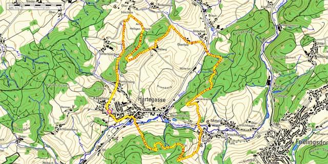 Route Rundwanderung Kapellensüng
