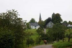Blick auf den Kapellenberg in Thier