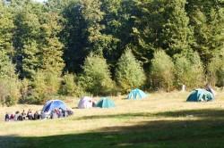 Zeltlager einer Jugendgruppe auf der Wigrow