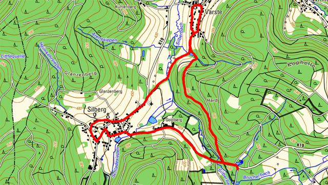 Route Rundwanderung Dollenbruch