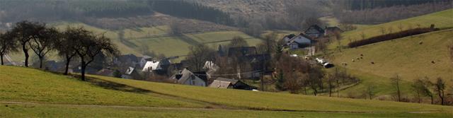 Blick vom Kulturhistorischen Lernpfad auf Ruckersfeld