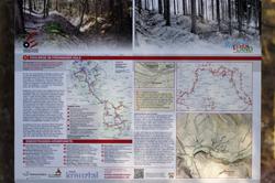 Informationstafel oberhalb der Hohlwege im Fröhninger Holz zwischen Schützenheim und Aherhammer