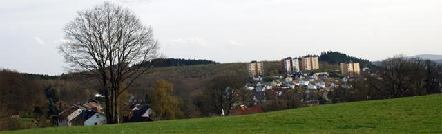 Blick auf Bottenbach und der Achenbachsiedlung