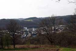 Blick vom Rundwanderweg auf Buschhütten