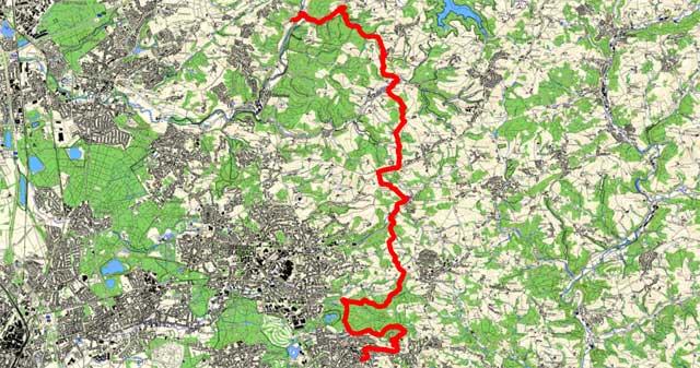 Bergischer Weg von Altenberg bis Bensberg
