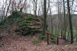 Überreste der Burg Berge