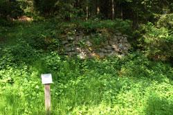 Überreste des Mühlengebäudes der einstigen Spezarder Mühle
