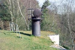Der Bunker Steinenbrück befindet sich an einer Abraumhalde