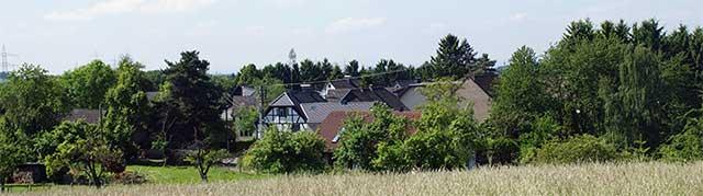 Blick auf die Ortschaft Lüderich