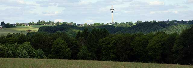 Panorama mit dem Sendeturm von Lohmar-Birk