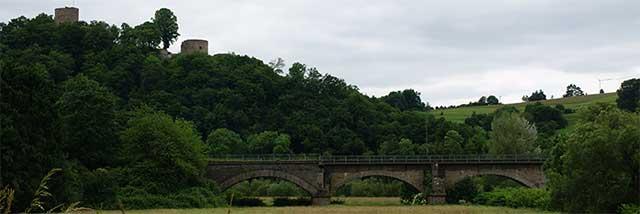 Eisenbahnbrücke über die Sieg bei Blankenberg