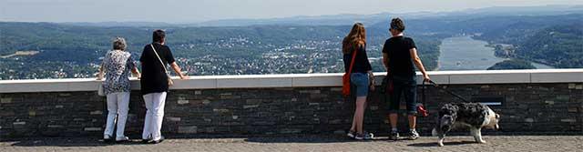 Ausblick vom neugestalteten Drachenfelsplateau