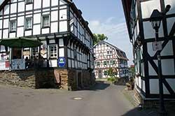 Fachwerkensemble in Stadt Blankenberg