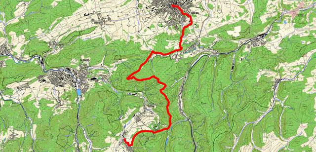 Rothaarsteig von Brilon bis Bruchhausen