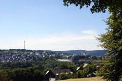 Blick vom Rothaarsteig am Dumel auf Winterberg