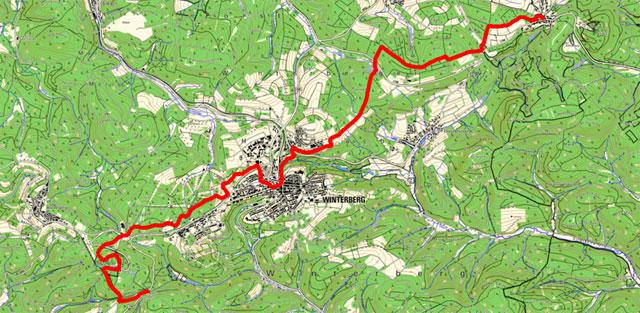 Etappenroute von Küstelberg nach Neuastenberg